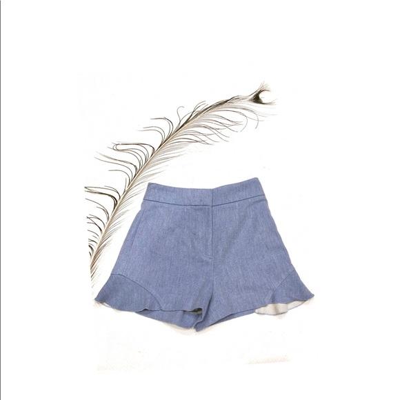 Zara Pants - Blue Shorts